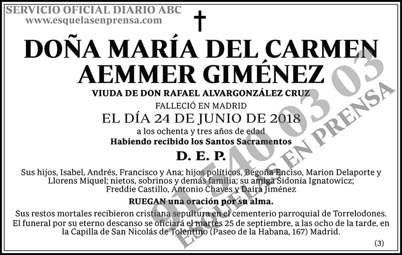 María del Carmen Aemmer Giménez